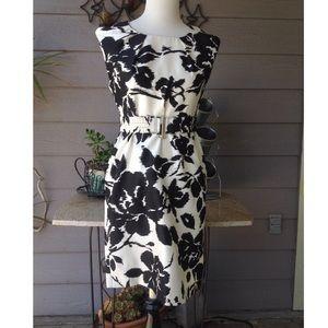 Adrienne Vittadini black/white pencil dress